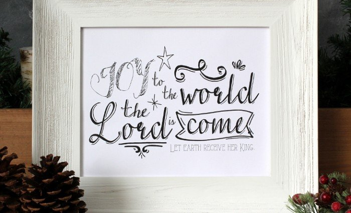 Joy to the World 10″x8″ Art Print