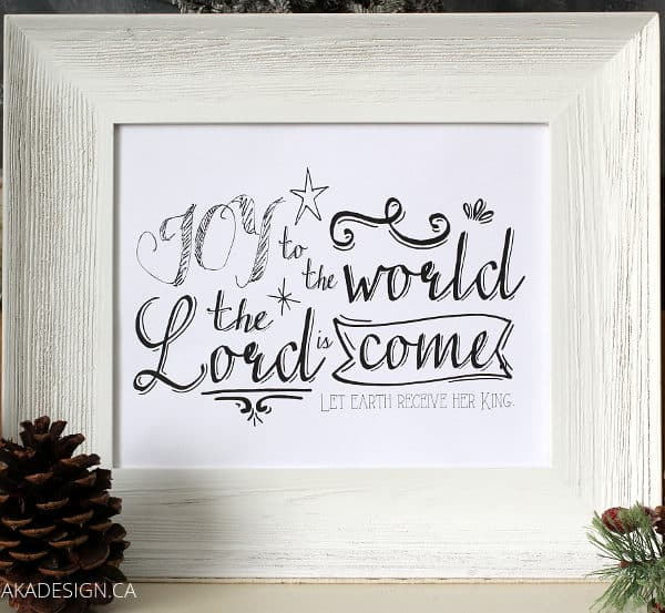 JOY THE TO THE WORLD FRAMED AND STYLED