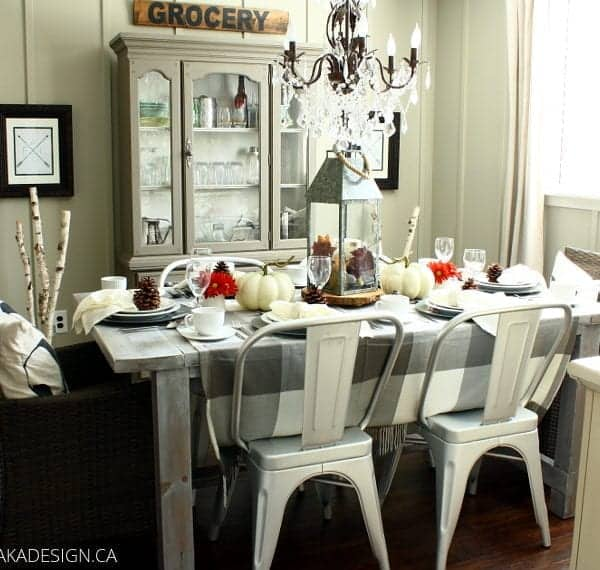 Late Fall Woodland Tablescape