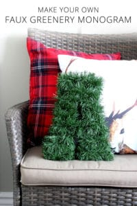 Make Your Own Faux Greenery Monogram