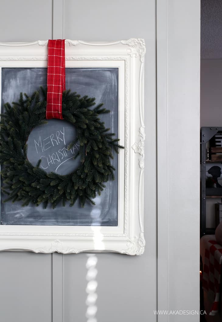WREATH AND CHALKBOARD