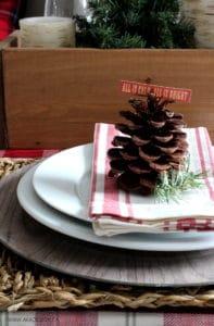 Woodland Christmas Place Setting BLOG size