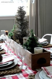 Woodland Christmas Table Centerpiece BLOG size