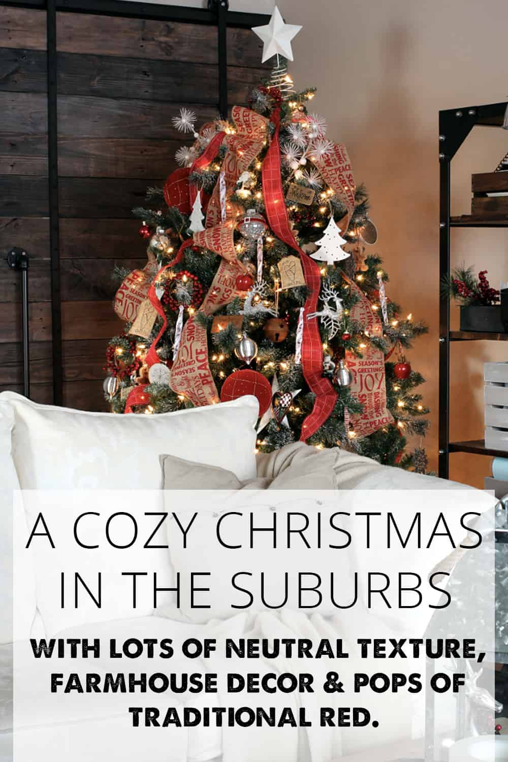 a cozy Christmas in the suburbs