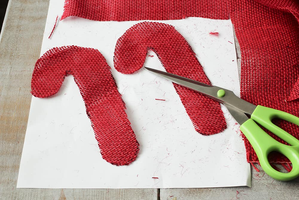 candy cane shapes cut out