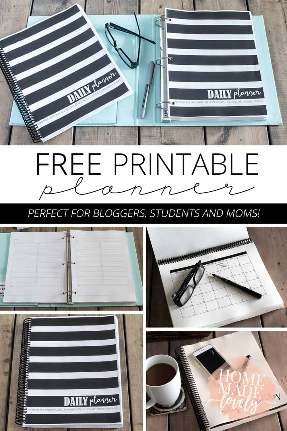 Need a planner, but short on moolah? Here's a free printable planner download for you!