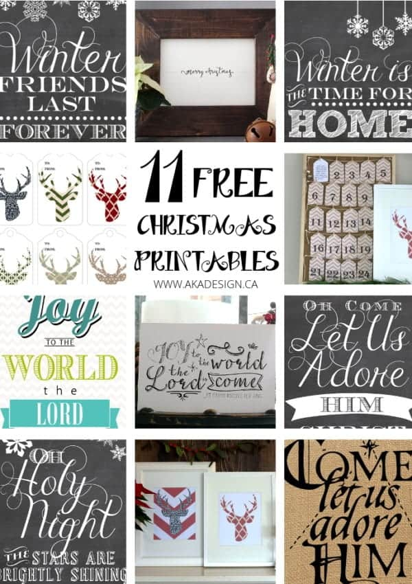 Free Christmas Printables – 11 Freebies to Download and Use!