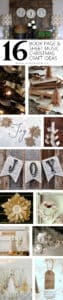 16 BOOK PAGE AND SHEET MUSIC CHRISTMAS CRAFT IDEAS
