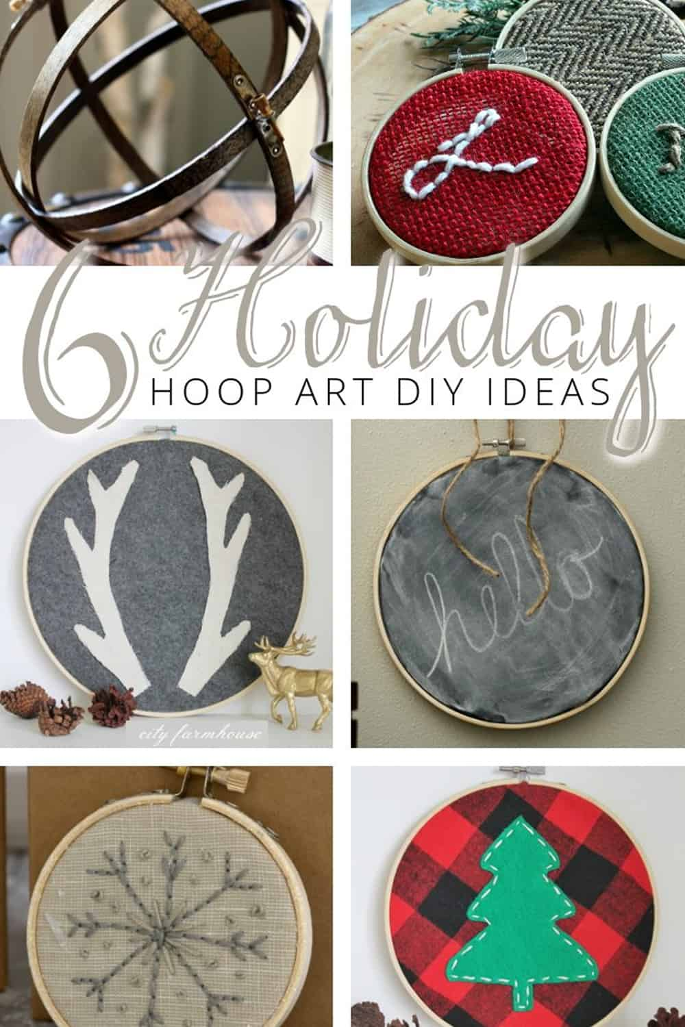 6 Holiday Embroidery Hoop Art DIY Ideas