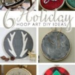 6 holiday hoop art diy ideas