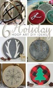 6 holiday hoop art diy ideas