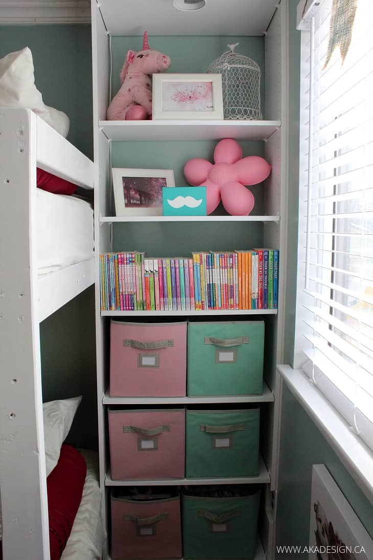 Girl S Room Makeover Reveal With Built In Storage