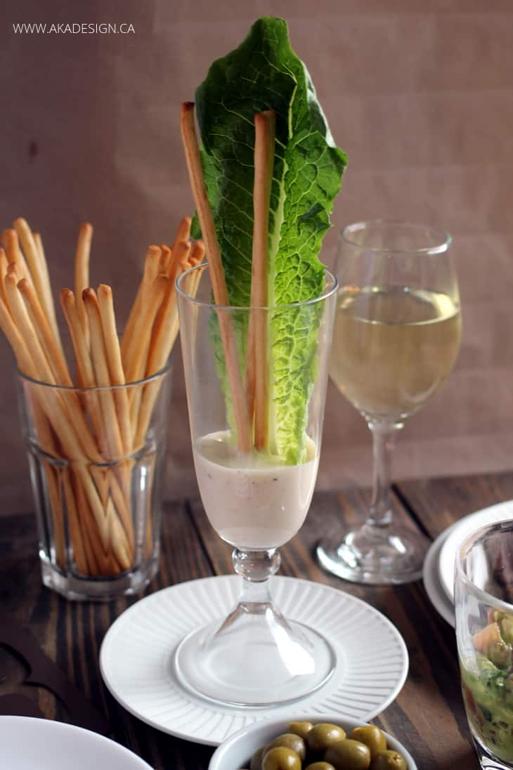CAESAR SALAD IN A GLASS