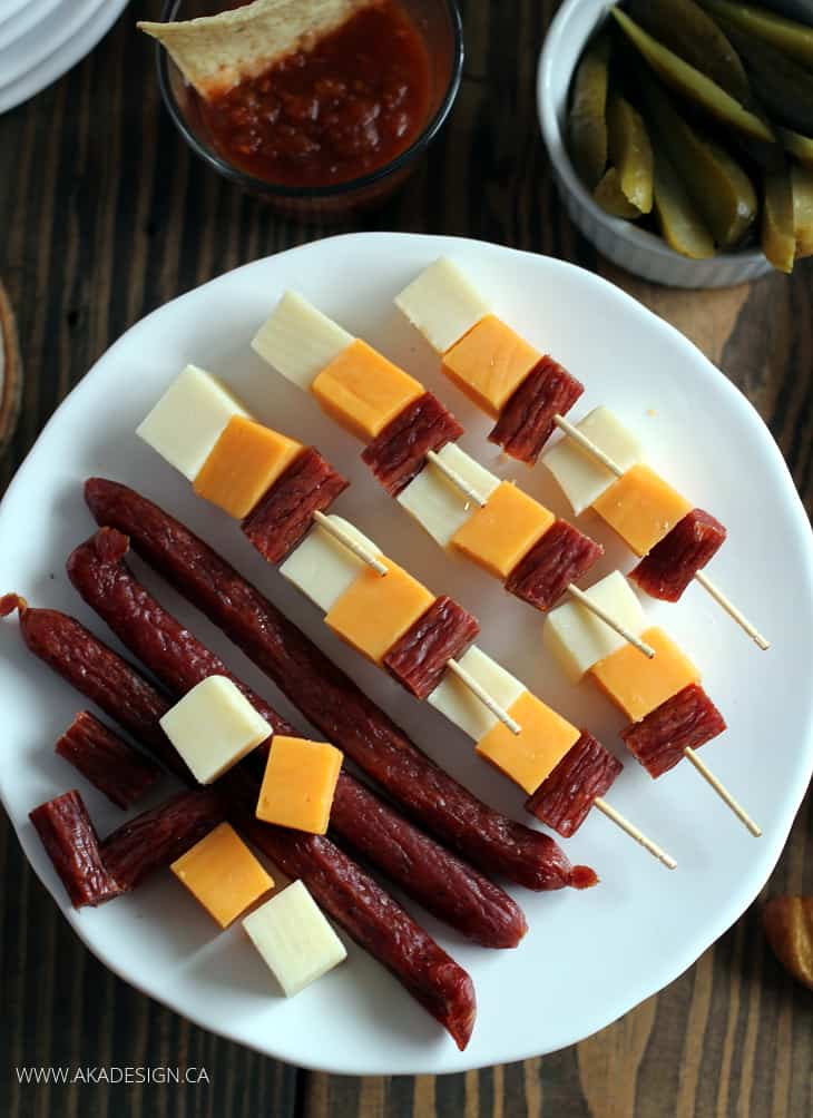 MEAT AND CHEESE SKEWERS