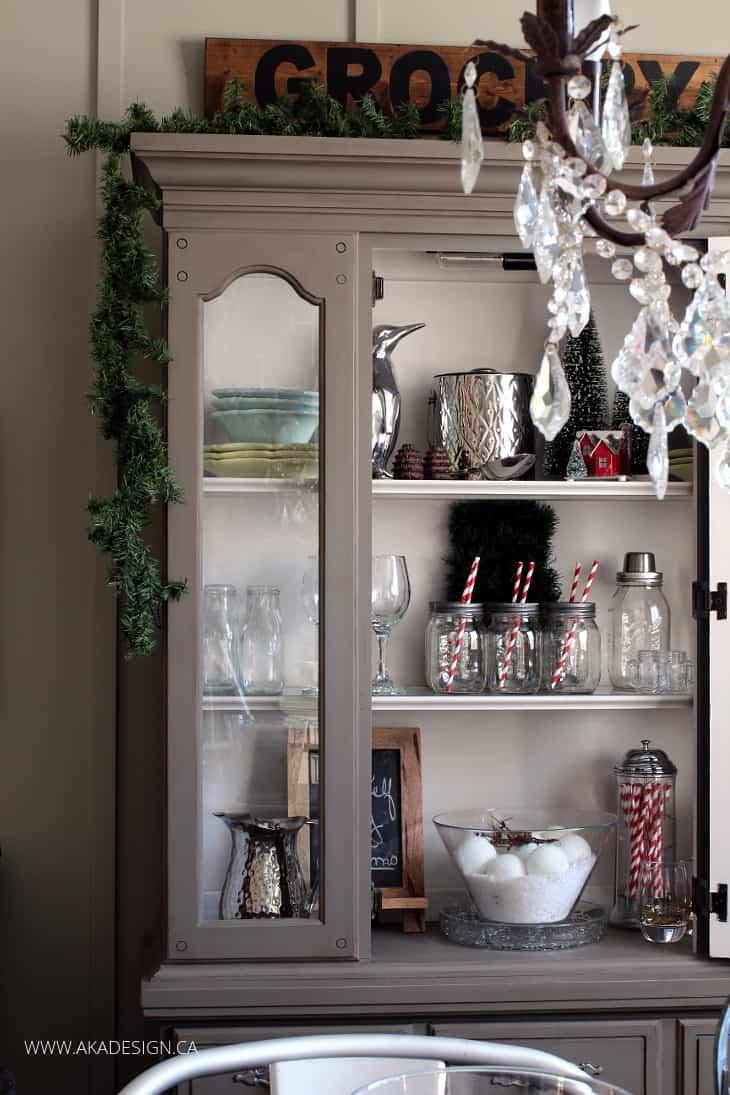 Decorating Ideas > Christmas Hutch Decorating ~ 012415_Christmas Decorating Ideas Hutch