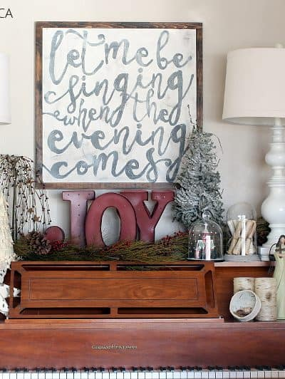 DIY HAND LETTERED CANVAS