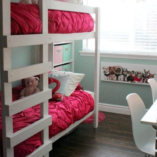 GIRLS ROOM MAKEOVER BUNK BEDS