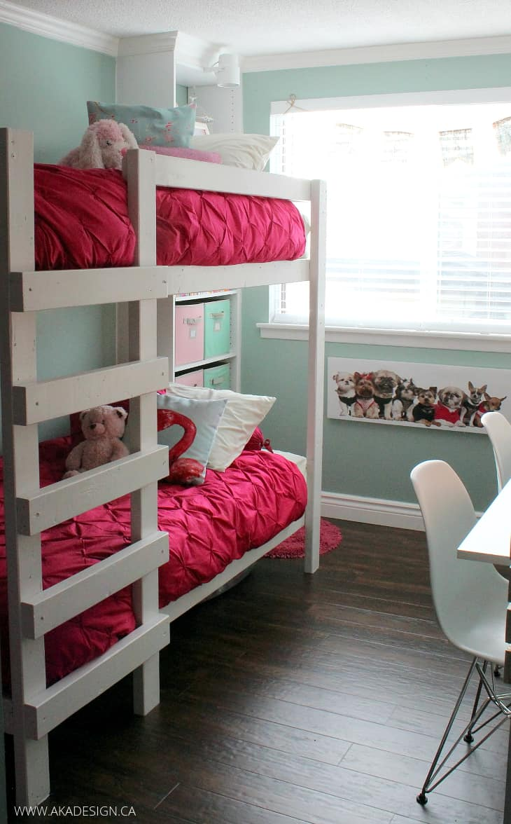 GIRLS ROOM MAKEOVER BUNK BEDS