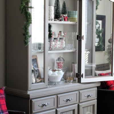 Christmas Hutch Decorating