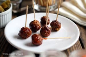 MEATBALLS AND BBQ SAUCE