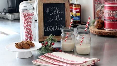 A Vintage Style Red and White Christmas Kitchen + Free Printables!