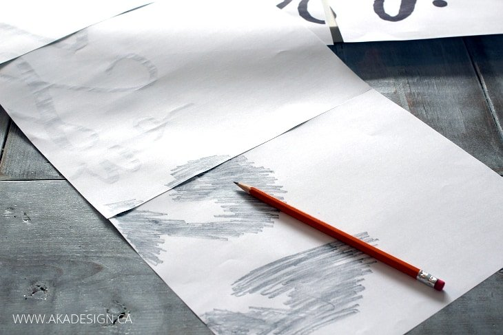 PENCIL TRANSFER METHOD