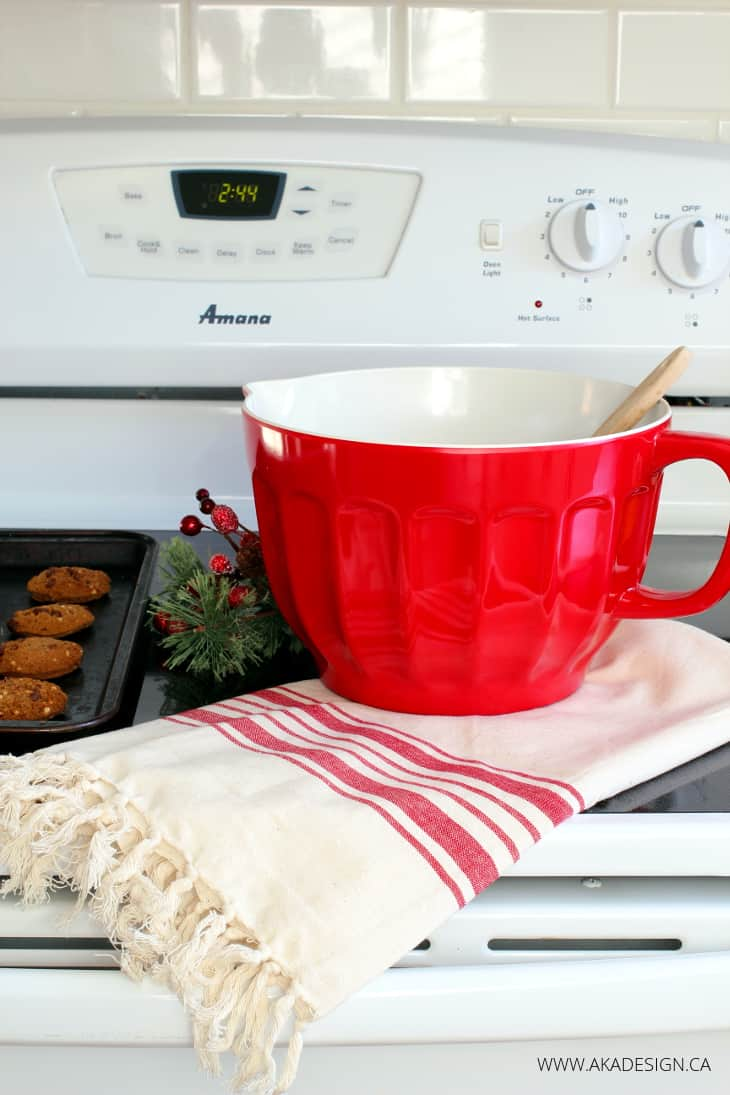 RED MELAMINE BATTER BOWL
