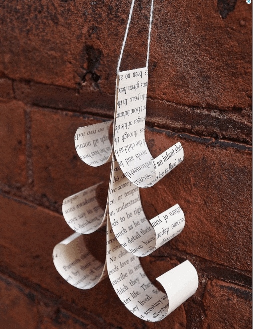 rolled paper tree