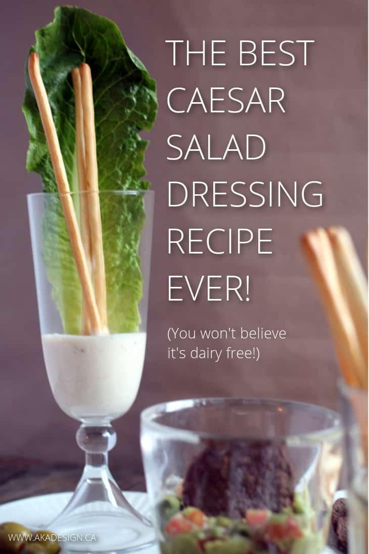 So good, especially if you like garlic. Caesar salad dressing - dairy free.