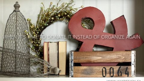 When It's Time to Donate Instead of Organize!