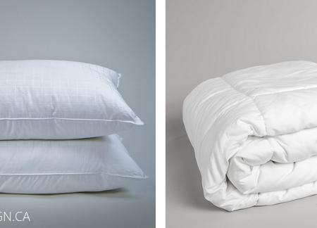 downlinens gel pillows and duvet