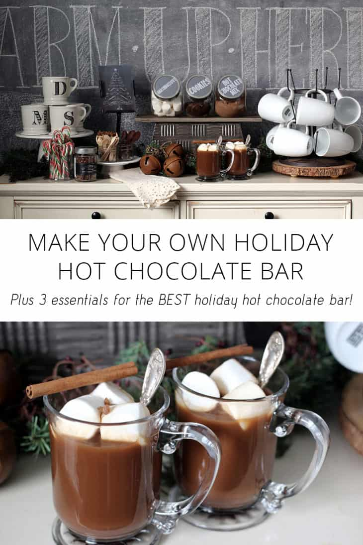 make your own holiday hot chocolate bar
