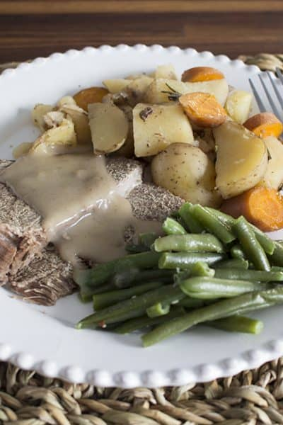 Slow Cooker Roast Beef Dinner – Using Frozen Roast Beef!