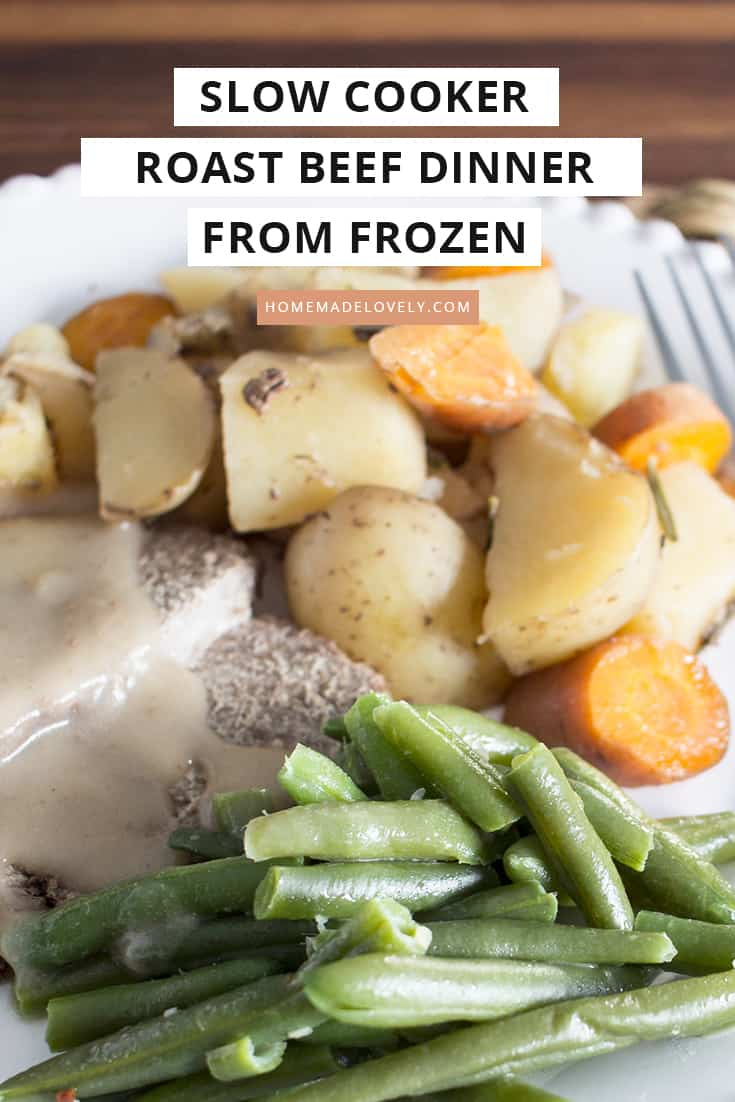 slow cooker roast beef dinner from frozen