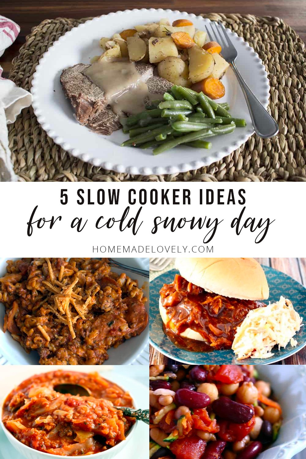5 Slow Cooker Recipes for a Snow Day
