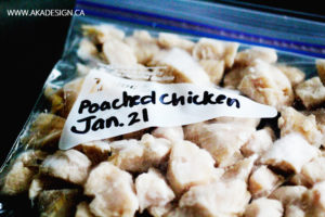 POACHED CHICKEN IN A FREEZER BAG