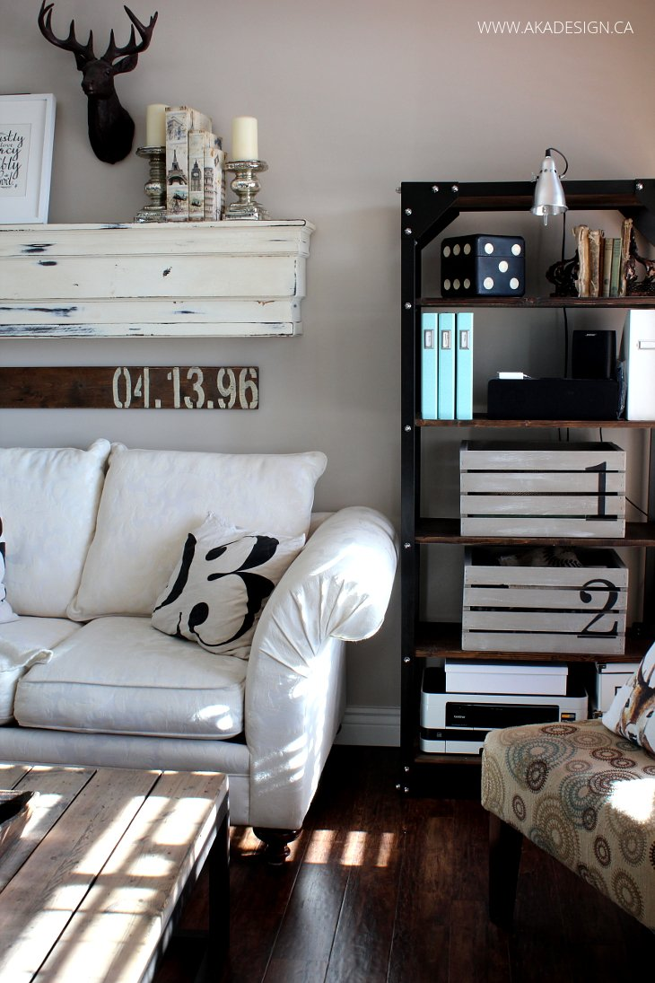 Restoration hardware inspired living room -