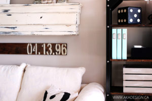 SPECIAL DATE STENCILED WOOD SIGN A