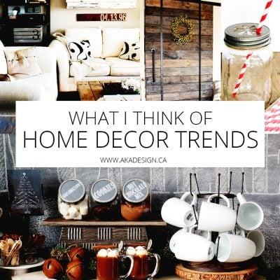 Here's What I Think of Home Decor Trends