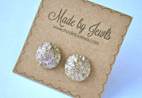 Faux Druzy Stone Earrings