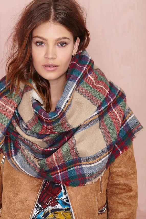 Oversized blanket scarf