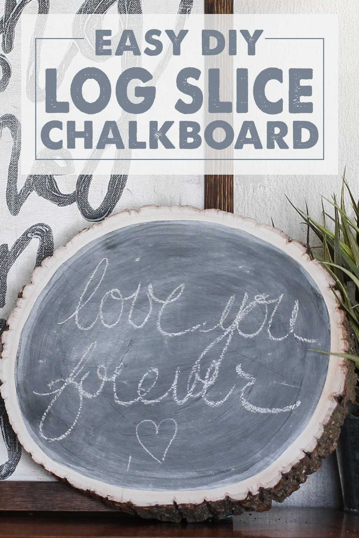 Log Slice Chalkboard