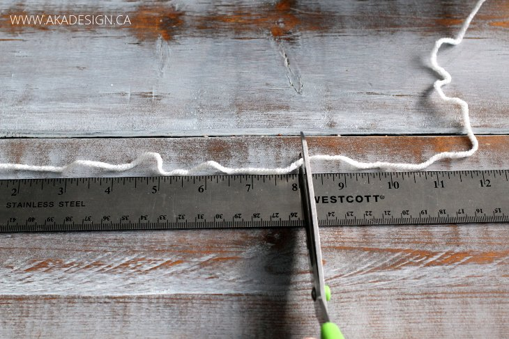 measure length of yarn