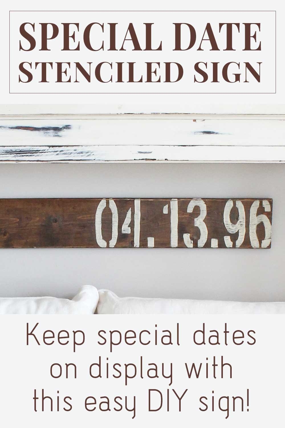 Special Date Stenciled Sign