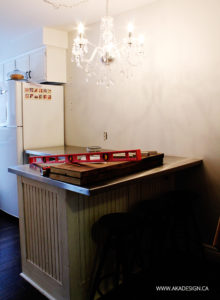 Coffee bar Breakfast Bar Before Subway Tile