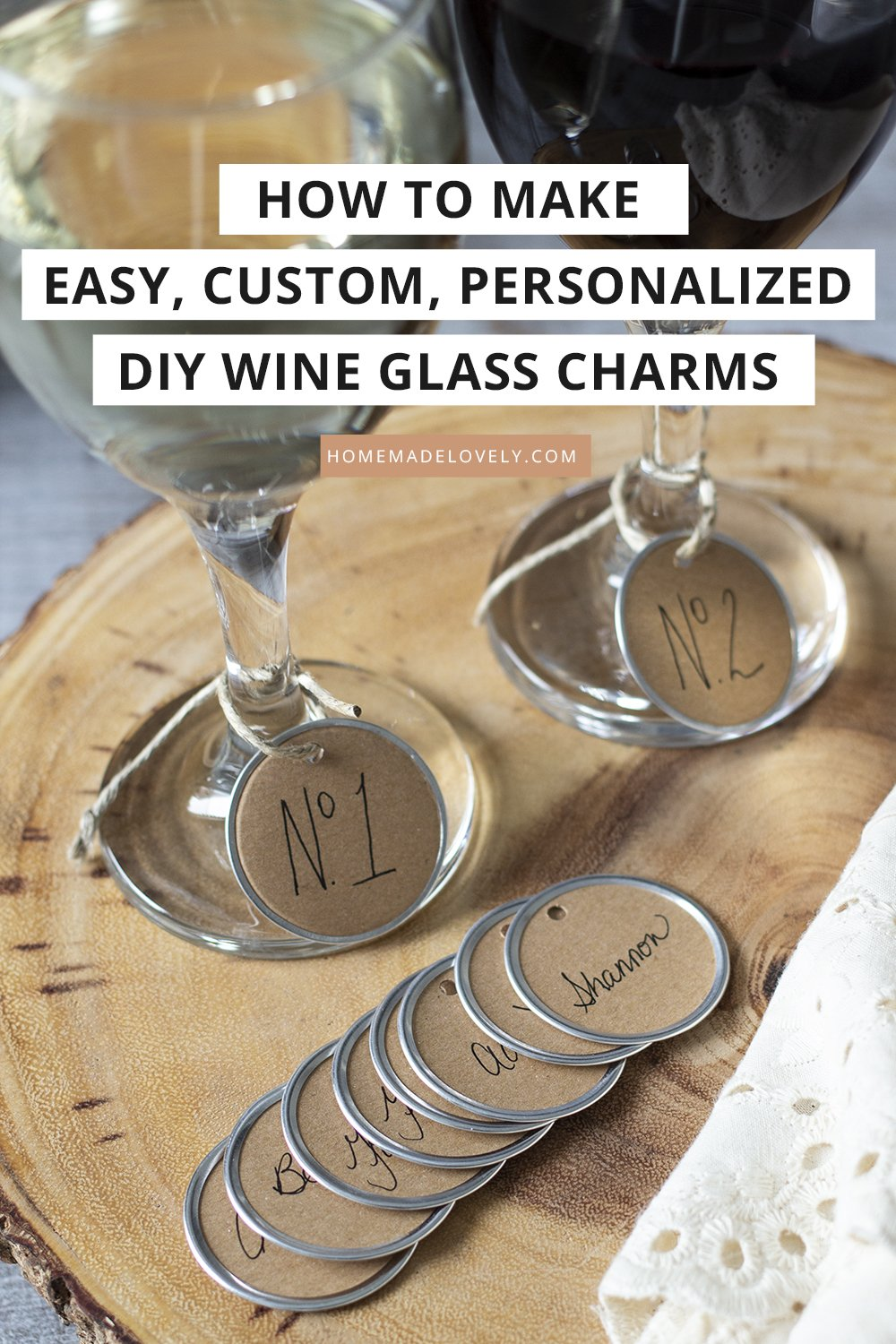 How to Make Easy, Custom, Personalized DIY Wine Glass Charms