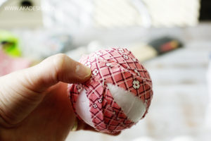Fabric rag balls step by step