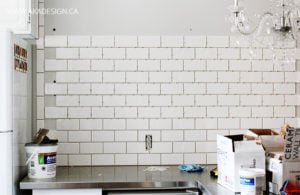 Installing white subway tile kitchen