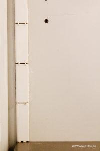 Start with vertical bullnose tiles