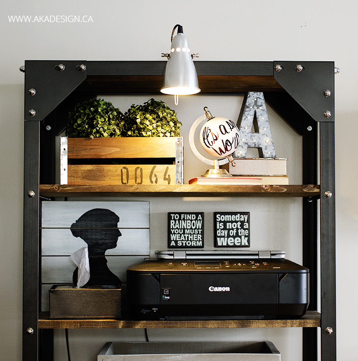 Styled Office Shelves